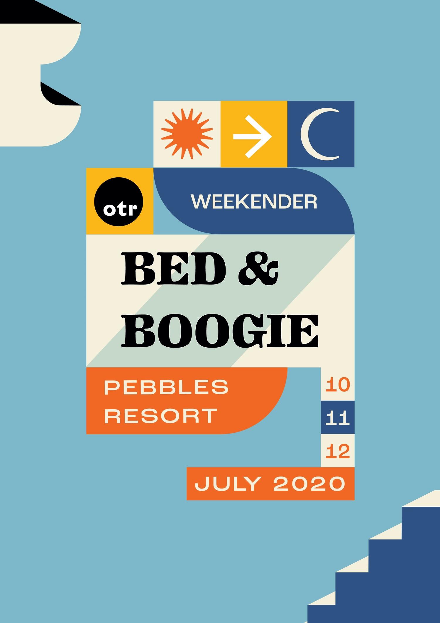 OTR Bed & Boogie Weekender 2020 flyer