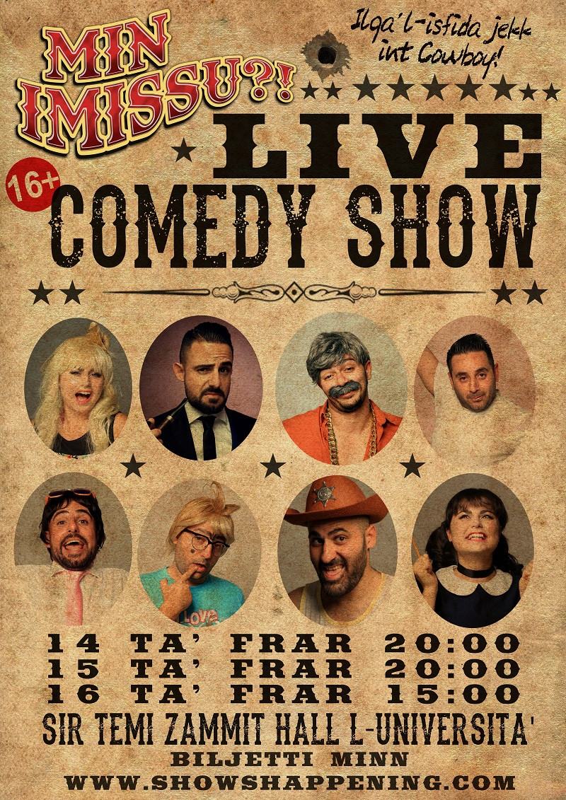 Min Imissu Live Comedy Show 2020 flyer