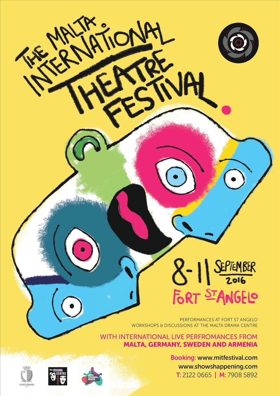 Malta International Theatre Festival flyer
