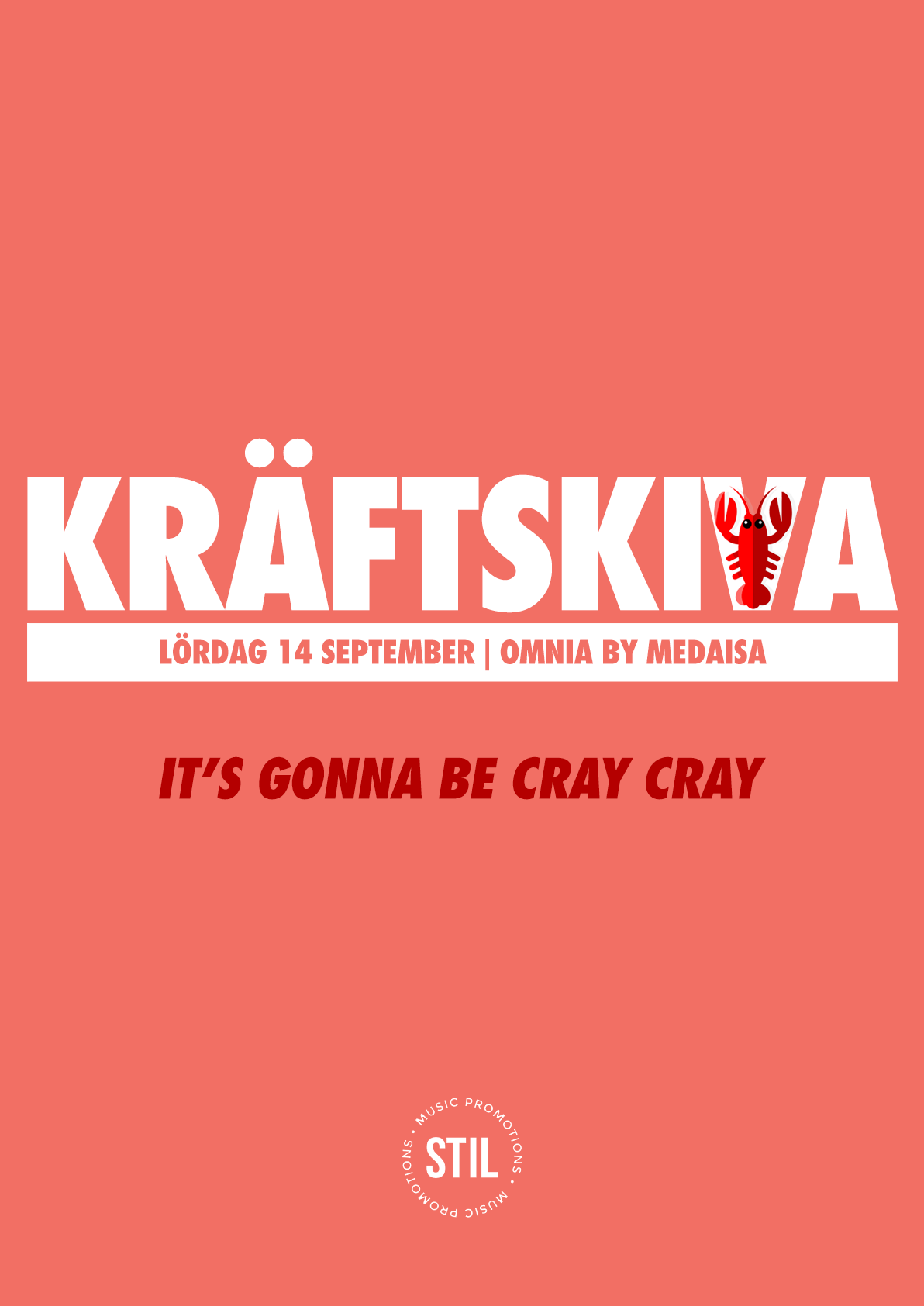 Kräftskiva 2019 (Swedish Crayfish Party) flyer