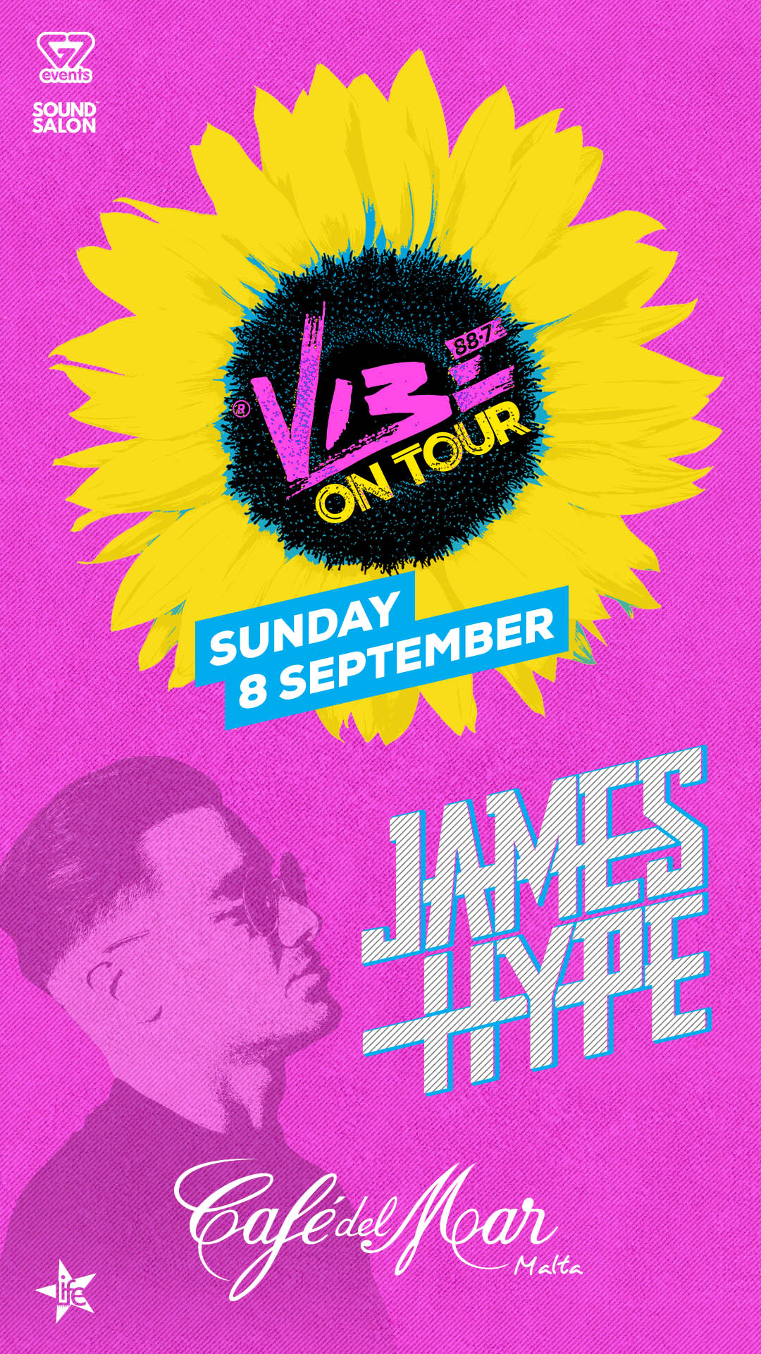 VIBE ON TOUR FT. JAMES HYPE at Café Del Mar flyer