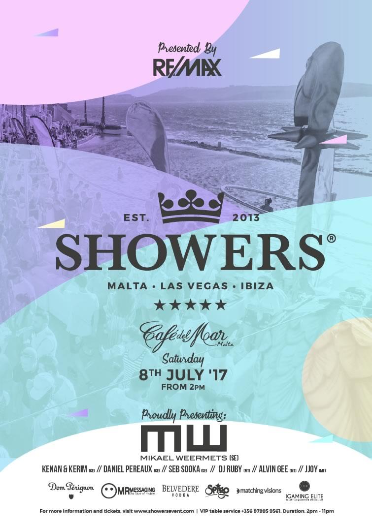 Showers: Malta 2017