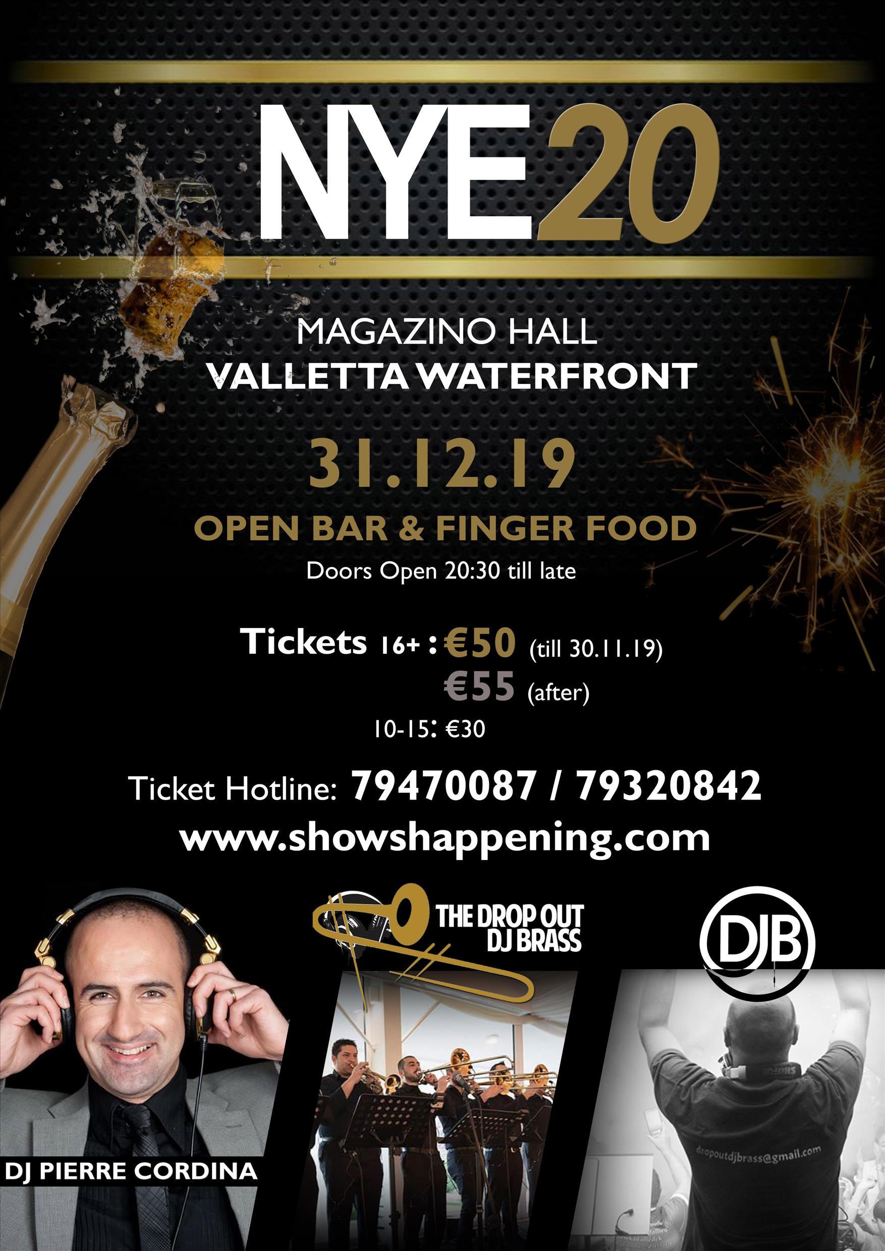 New Year's EVE20 flyer