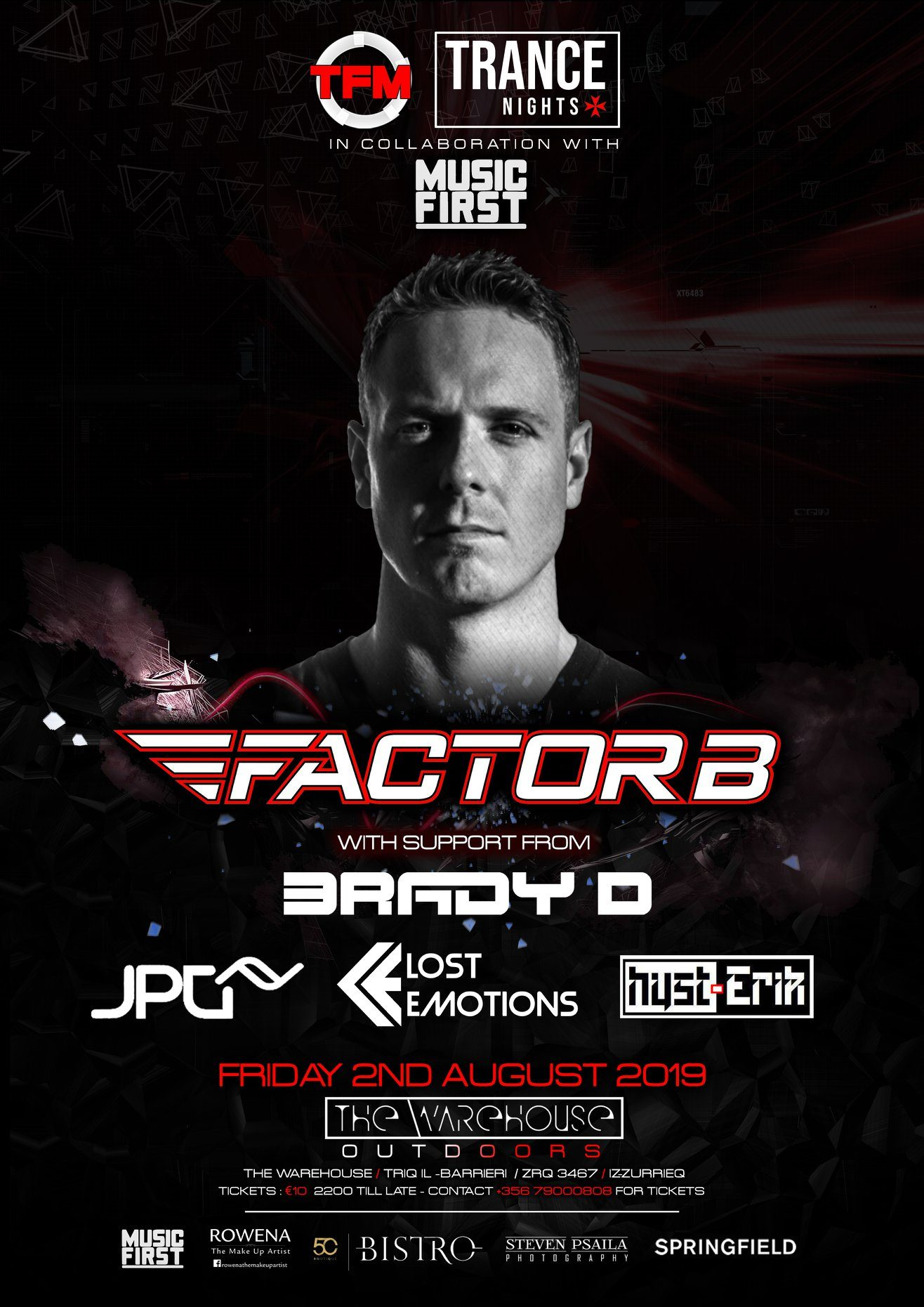 Elate feat Factor B flyer