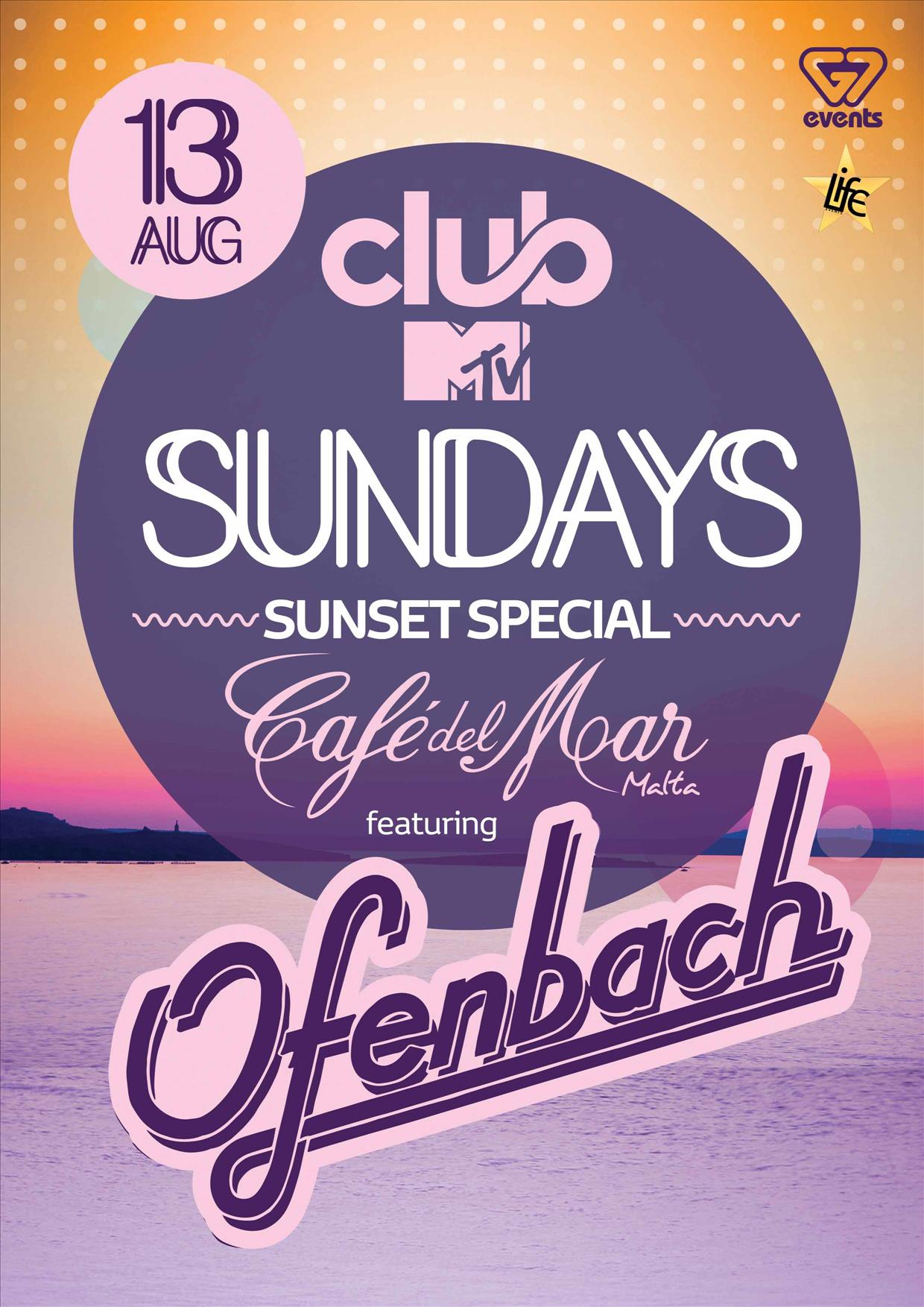 Club MTV Sundays present OFENBACH flyer