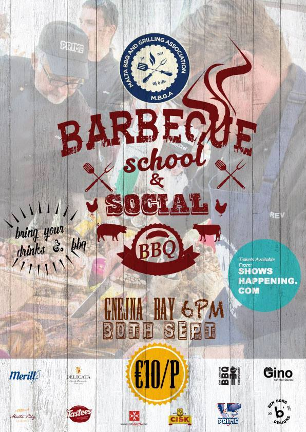 Beef BBQ School and Social BBQ flyer