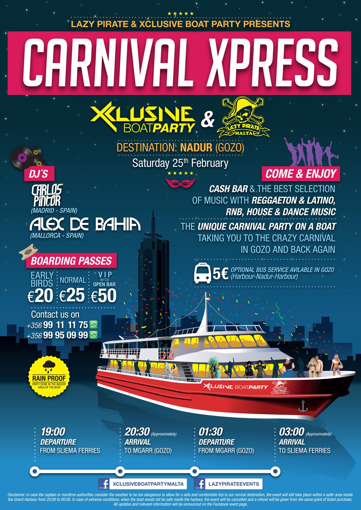 Carnival Xpress 2017 flyer