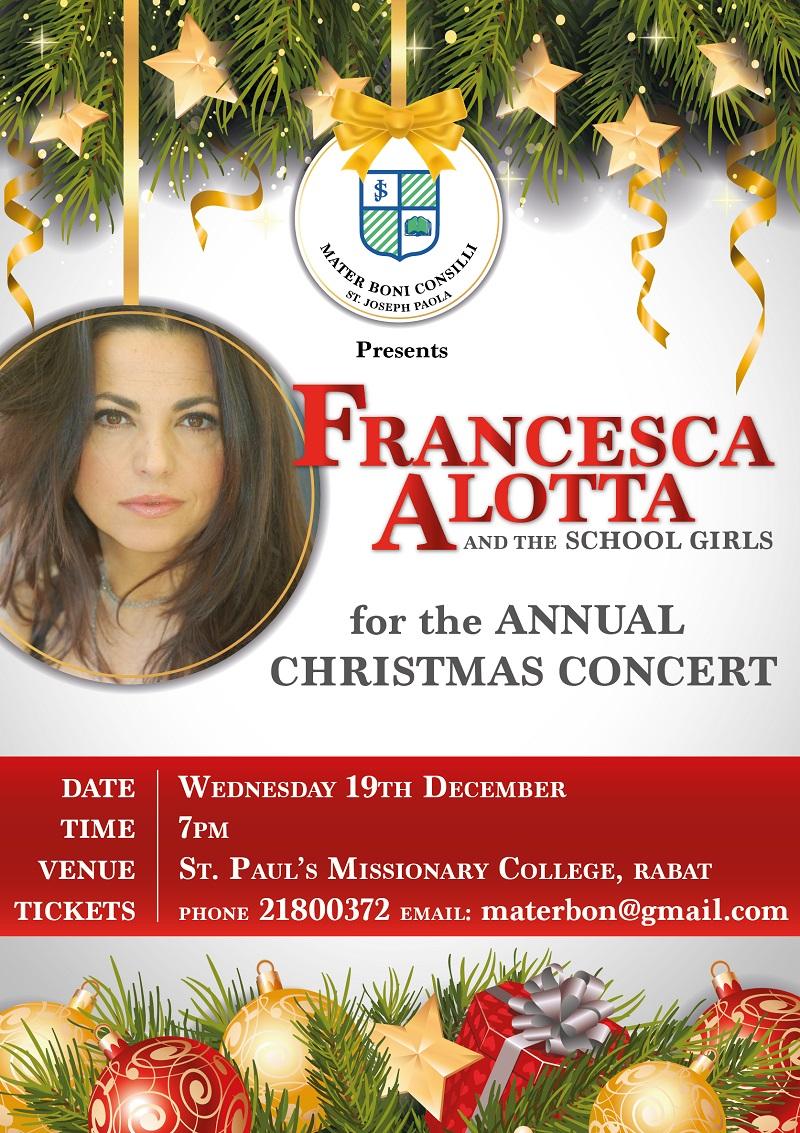 St.Joseph Mater Boni Consilii Christmas Concert flyer