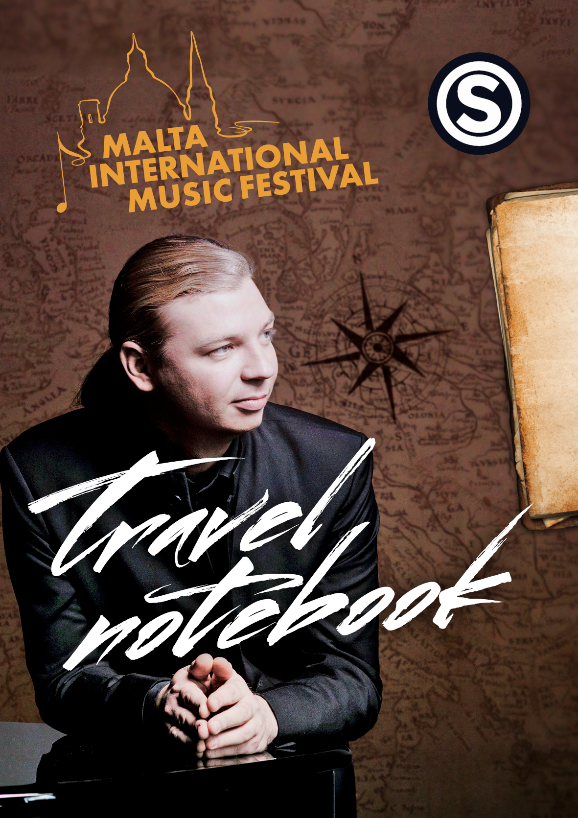 TRAVEL NOTEBOOK PIANO CONCERTO -Denis Kozhukhin flyer
