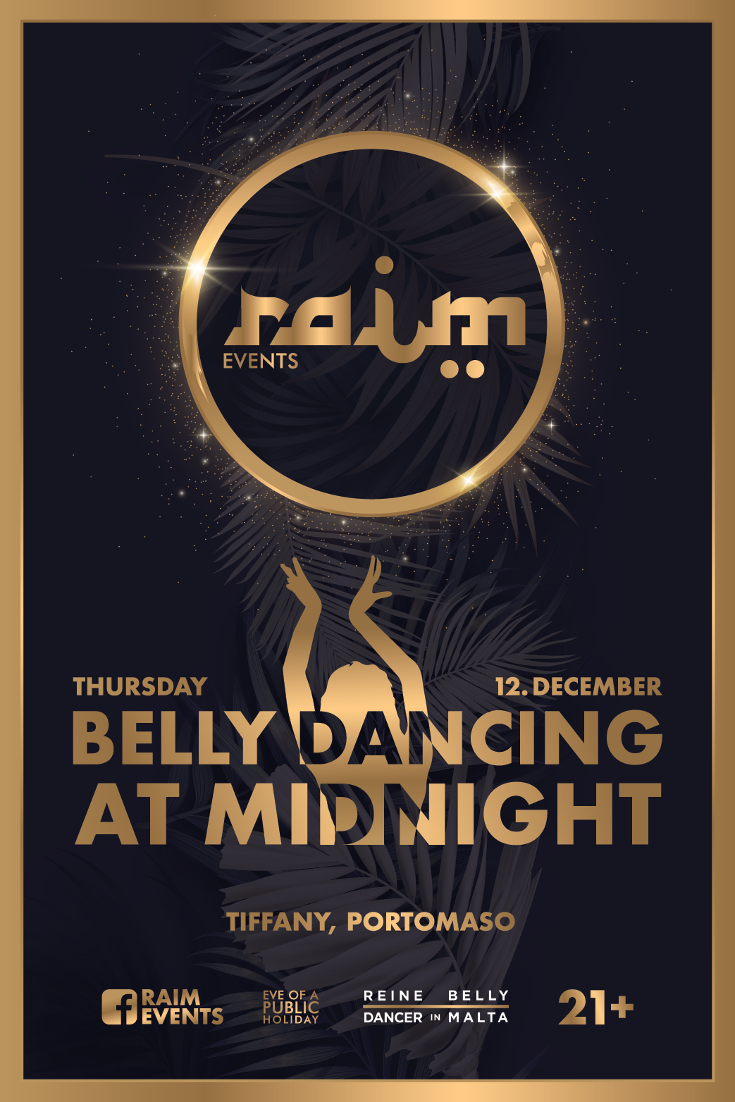 Belly Dancing At Midnight flyer