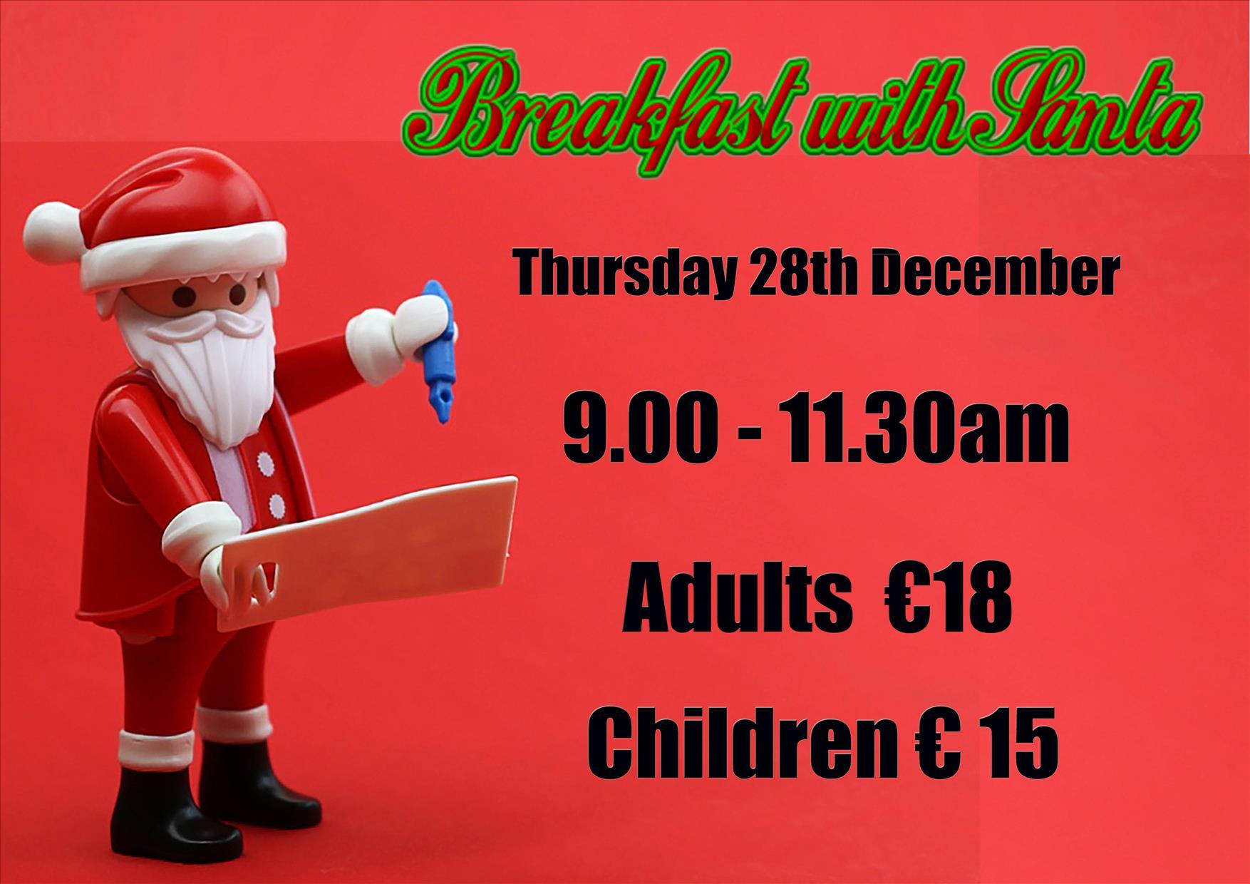Breakfast with Santa flyer