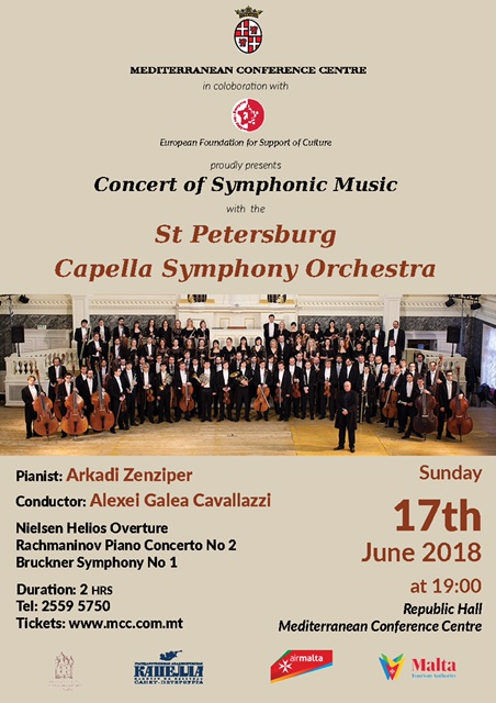 The St. Petersburg Capella Symphony Orchestra flyer