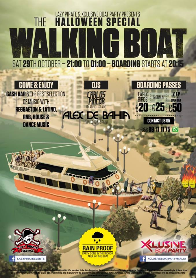 Halloween Special 2016 Boat Party - The Walking Boat flyer