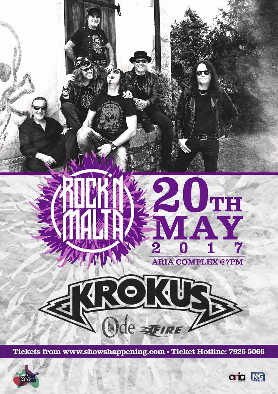 Krokus in Concert flyer