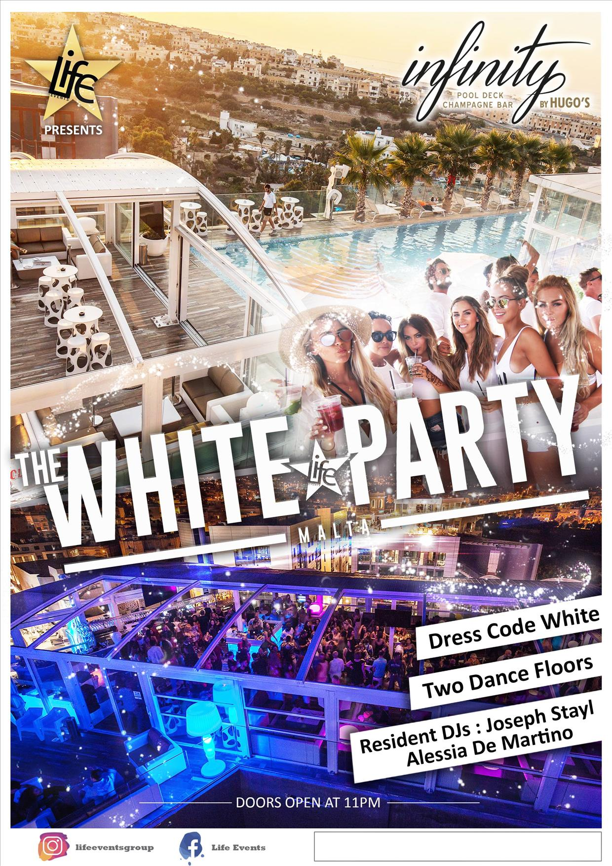 White Party by Life Events flyer