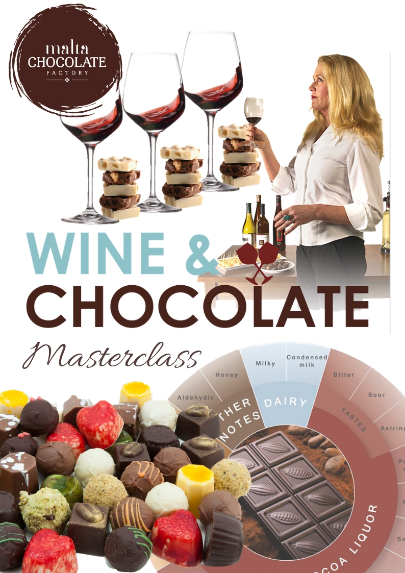 Wine and Chocolate Pairing flyer