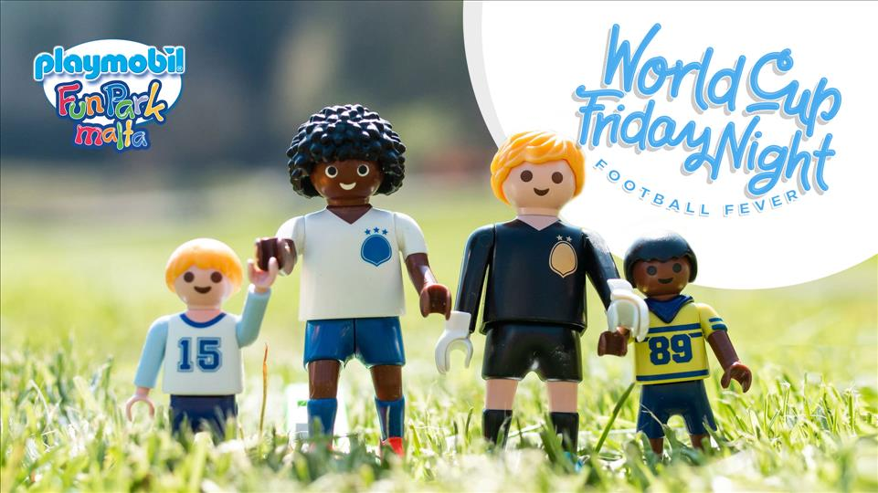 Playmobil World Cup Friday Night Party flyer