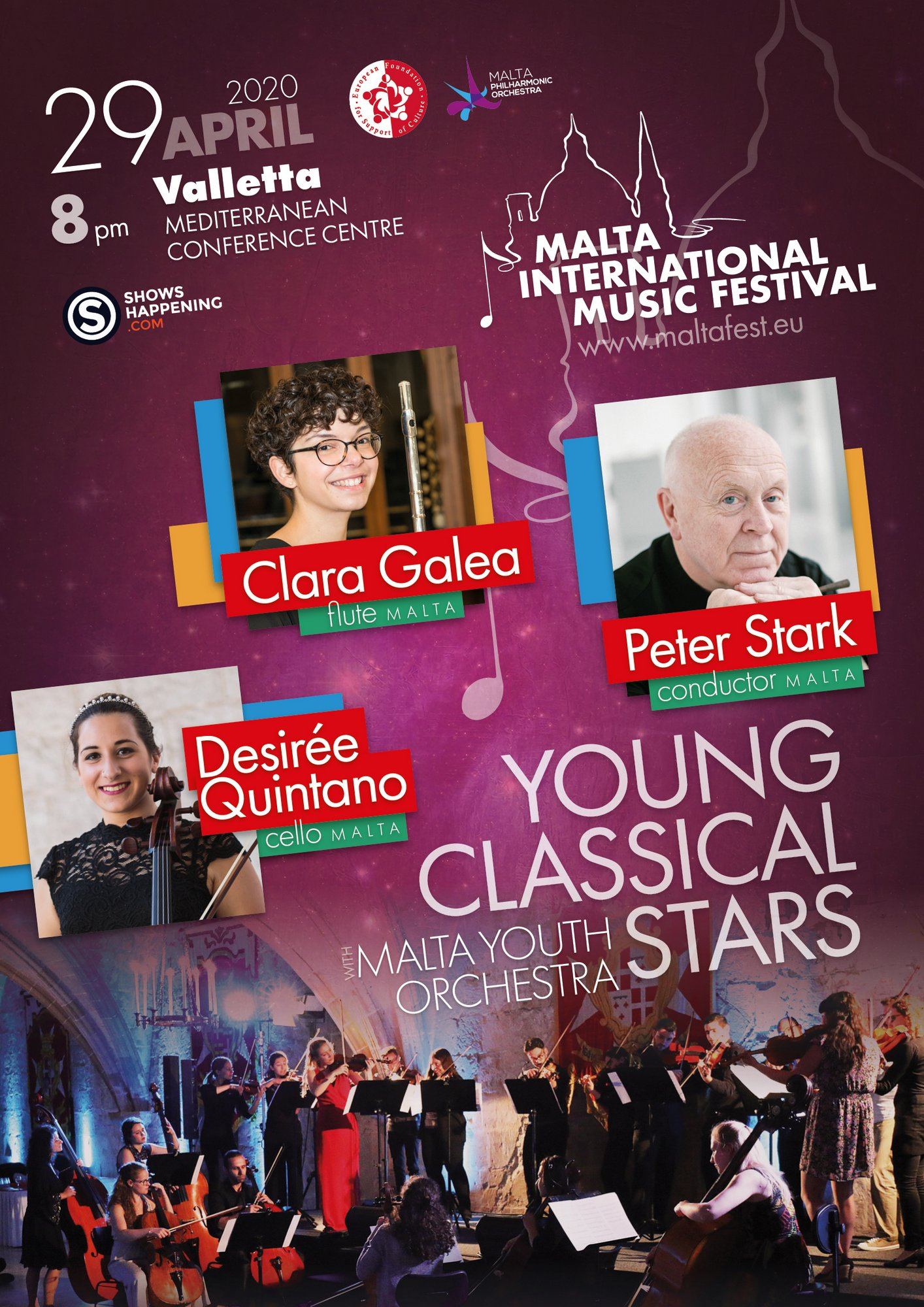 Young Classical Stars with Malta Youth Orchestra flyer
