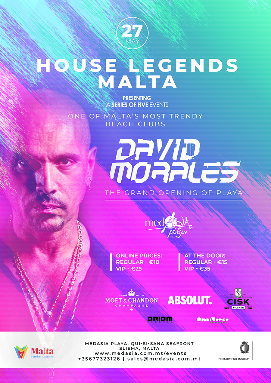 MedAsia Playa Official Opening - David Morales flyer
