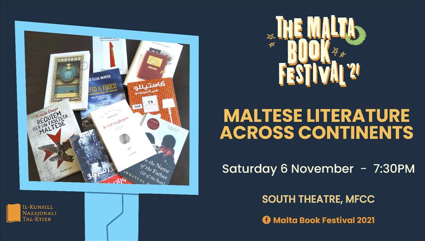 The Malta Book Festival 2021: Maltese Literature Across Continents poster