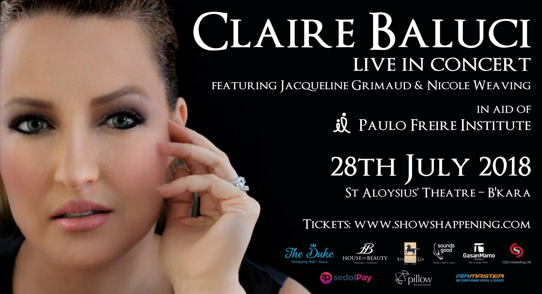 Claire Baluci Live In Concert flyer