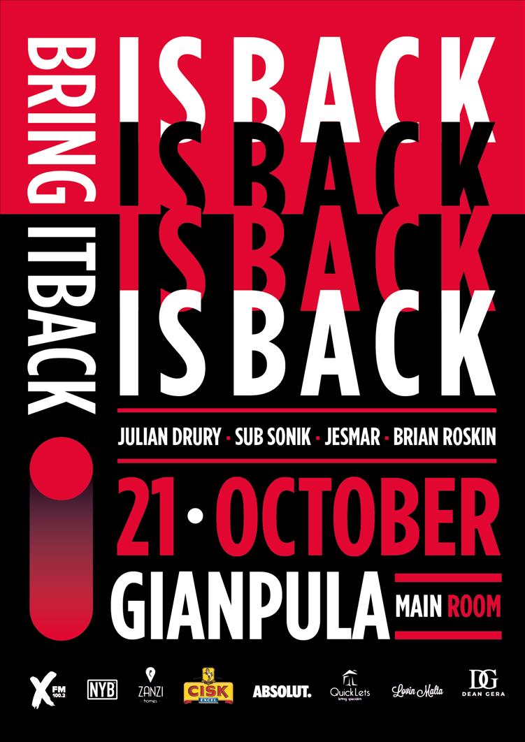 Bring It Back! Is Back! flyer