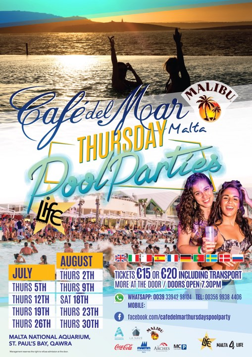 Cafe Del Mar Thursday Pool Party flyer