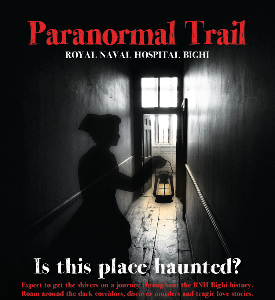 Paranormal Trail: Royal Naval Hospital Bighi flyer