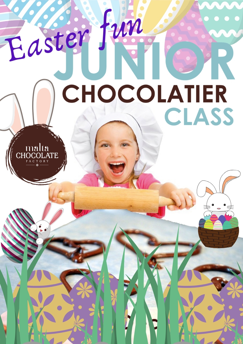 Kid's Easter Holiday Chocolate Making Fun flyer