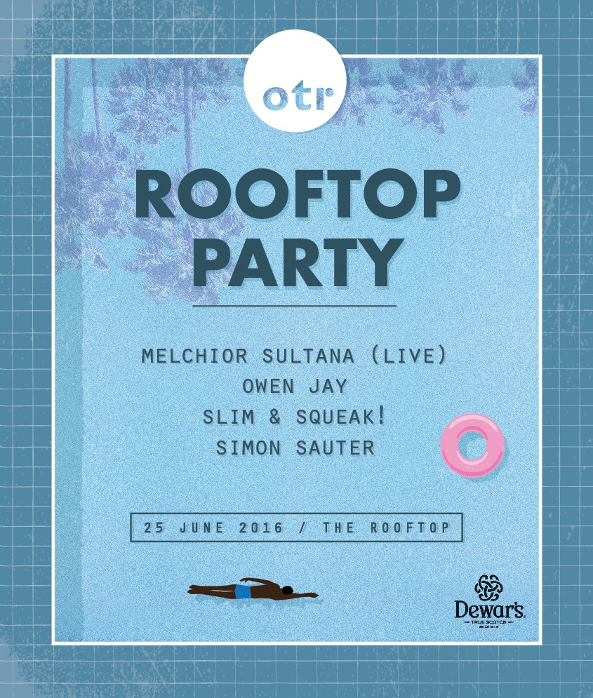 OTR Rooftop Party flyer