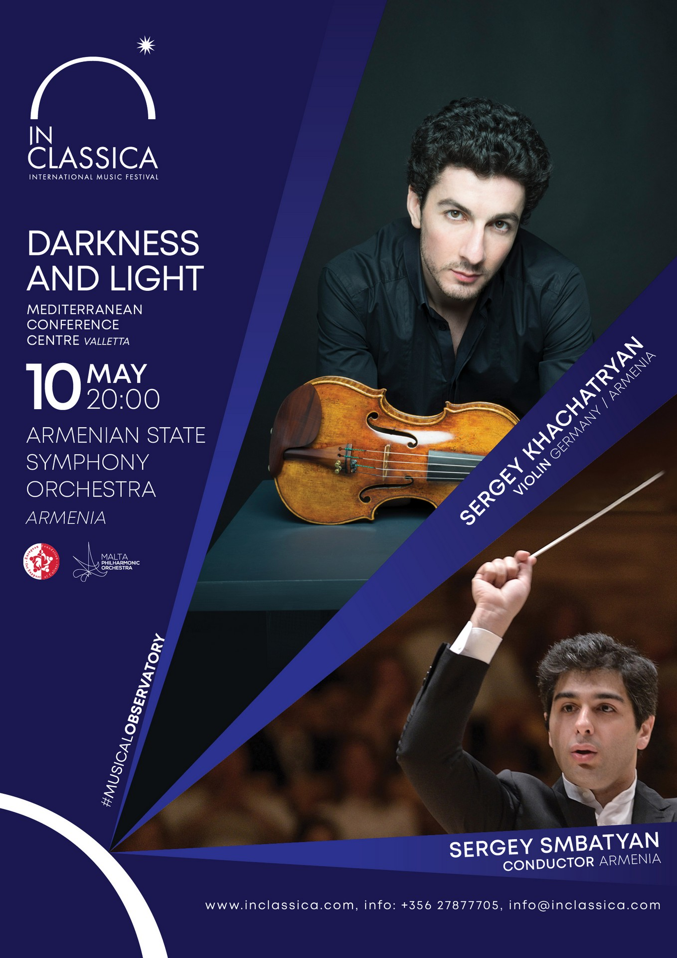 InClassica: DARKNESS AND LIGHT flyer