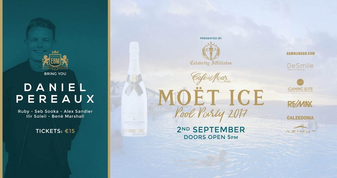 Moët Ice Pool Party at Café del Mar - Presented by Celebrity Affiliates flyer