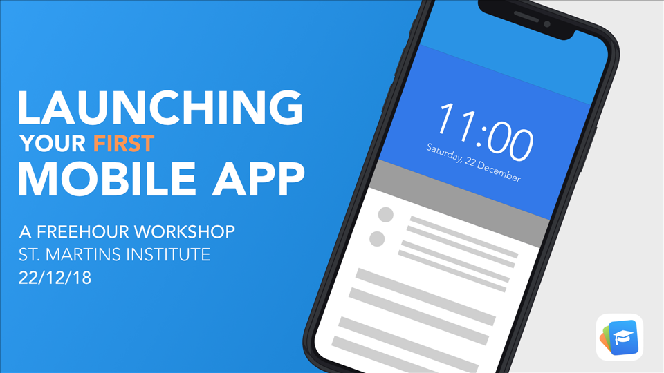 FreeHour Workshop : Launching Your First Mobile App flyer