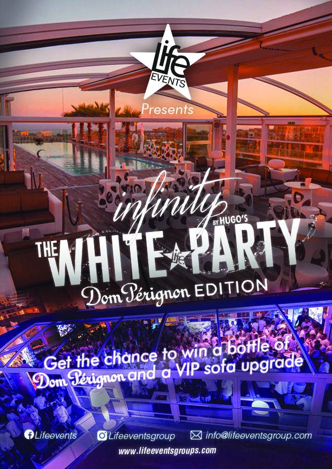 The White Party at Infinity by Life Events flyer