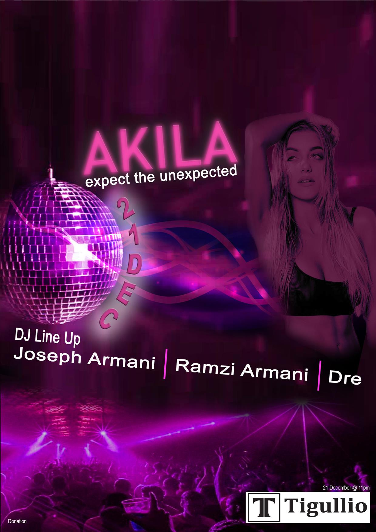 AKILA - Expect The Unexpected flyer