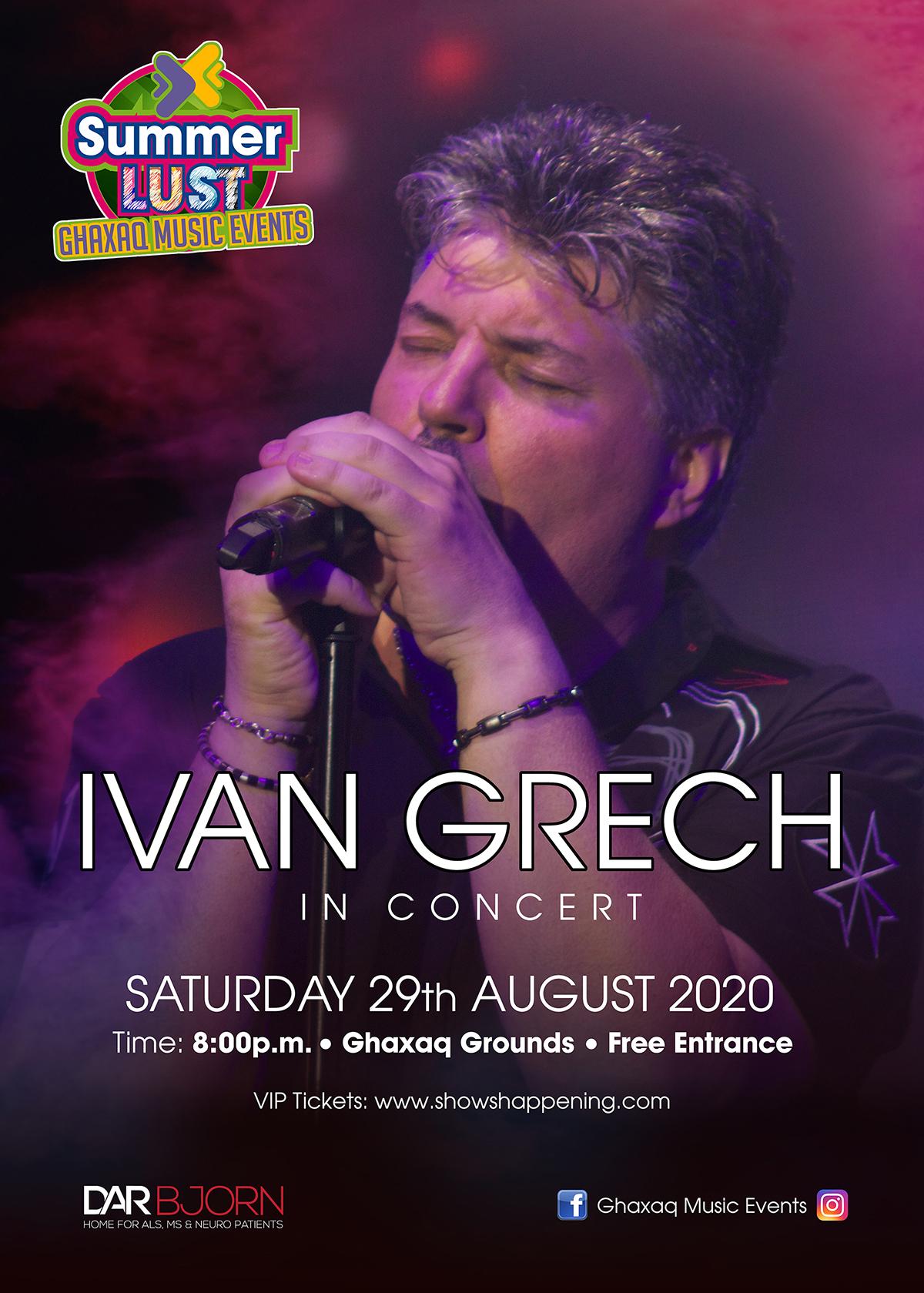 IVAN GRECH in concert flyer