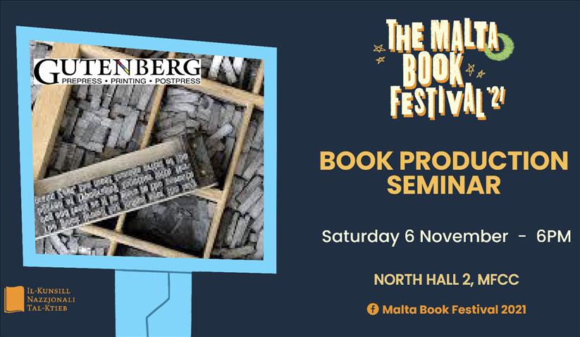 The Malta Book Festival 2021: Book Production Seminar poster